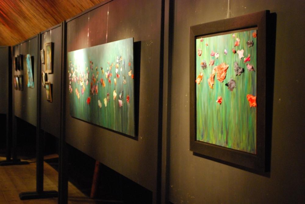 Bloemen olie/acrylverf